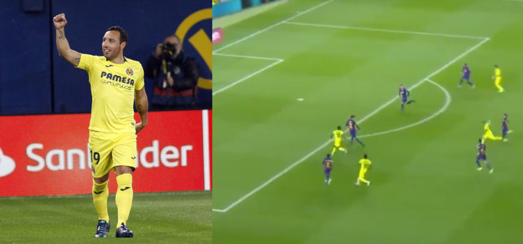 WATCH: Santi Cazorla scores long distance worldie against Barcelona at Camp Nou