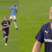 WATCH: Paul Scholes Stole The Show At Kompany's Testimonial With The Pass Of The Night