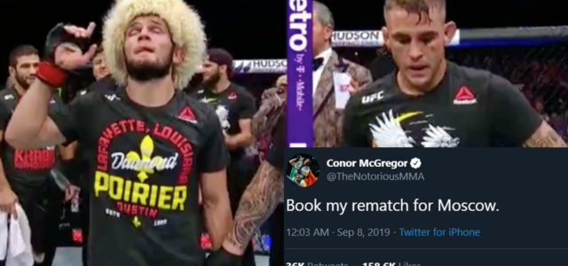 McGregor Wants Rematch With Khabib In Moscow