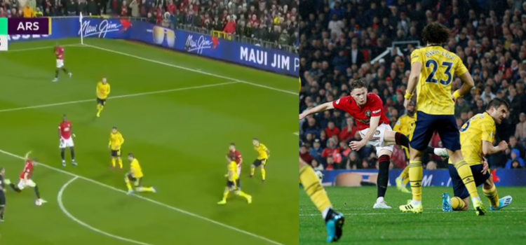 WATCH: Scott McTominay Fires It Into The Top Corner Against Arsenal