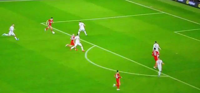 Manchester United wonder kid JAMES DANIEL SCORES FOR WALES…..Cracker!