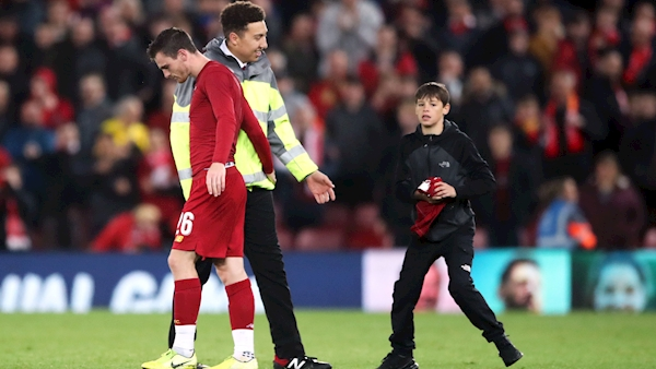 Liverpool charged by UEFA for Anfield pitch invasions