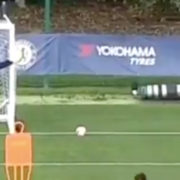 WATCH: Marcos Alonso uses Willy Caballero for 'top bins' challenge