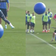 WATCH: Leganés players get bombarded during hilarious exercise ball training drill