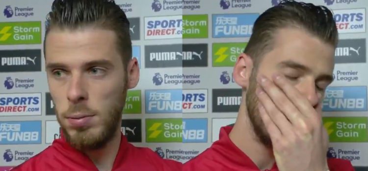 """WATCH: De Gea Apologises To Fans In Interview – """"I Don't Know What Is Happening"""""""