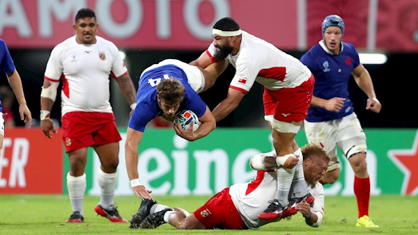 France beat Tonga to reach the last eight of the World Cup