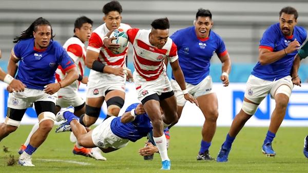 World Cup hosts Japan claim bonus-point win against Samoa