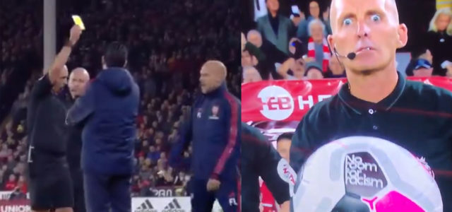 WATCH: Mike Dean Books Freddie Ljungberg