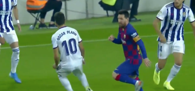 WATCH: Lionel Messi produces one of the filthiest nutmegs of all time
