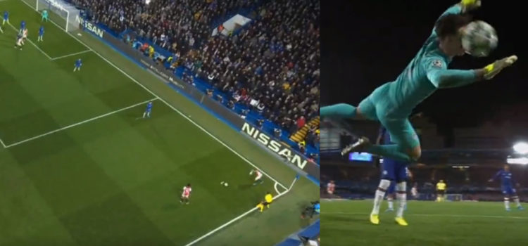 WATCH: Ziyech Scores Freekick From 'Impossible' Angle As Ball Bounces Off Of Kepa's Face And Into The Net