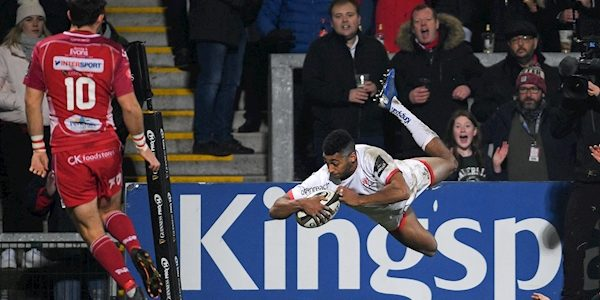 Ulster blow away Scarlets with impressive first-half display