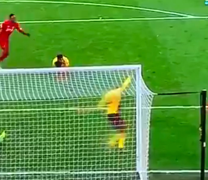 WATCH: Mo Salah scores cheeky little back-heel goal against Watford