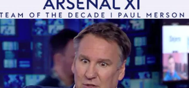 Everyone is Laughing At Arsenal's 'Team Of The Decade' XI from Paul Merson