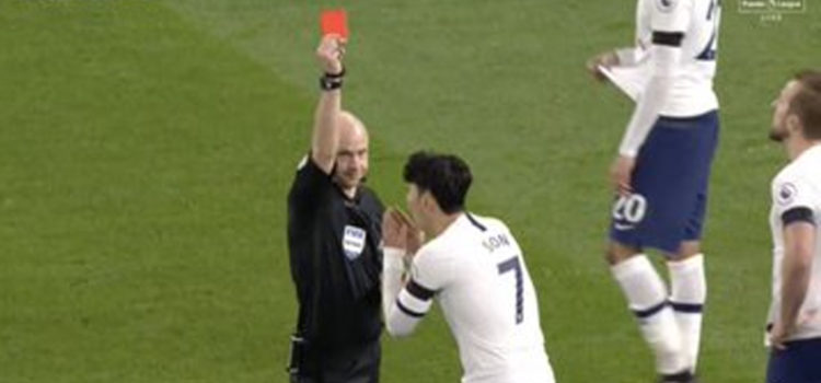 WATCH: Son Gets Straight Red Card For Kicking Rudiger In The Crotch