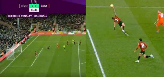 WATCH: Bournemouth Defender Gets A Straight Red For Finger Tip Save In The Box