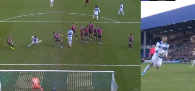WATCH: QPR Score As Officials Miss Double Handball In Lead Up To The Goal.