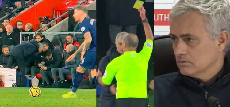 """WATCH: Mourinho Calls Southampton Coach """"An Idiot"""" After Jose Was Booked For Spying"""