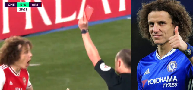WATCH: 'Agent' Luiz Gets Straight Red And Gives Chelsea A Penalty