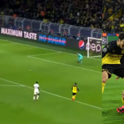 WATCH: Haaland Scores A Champions League ThunderB*stard Against PSG