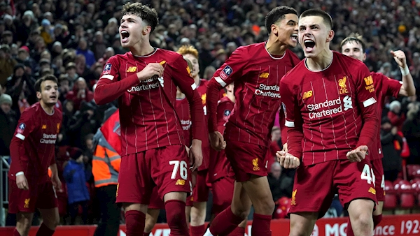 Ro-Shaun Williams' own goal sees Liverpool youngsters edge Shrewsbury FA Cup replay