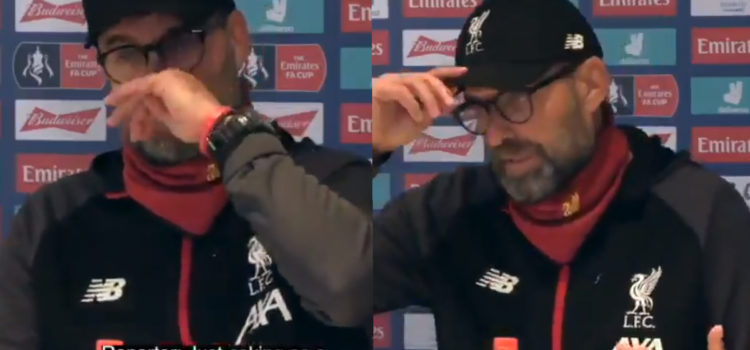 WATCH: Fans Are Loving Klopp's Reaction To Reporter's Question About Corona Virus