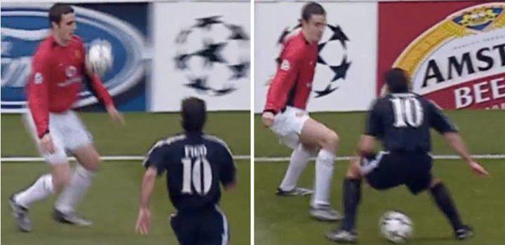 17 years ago today, John O'Shea nutmegging a Portuguese lad call Figo 🔴☘️