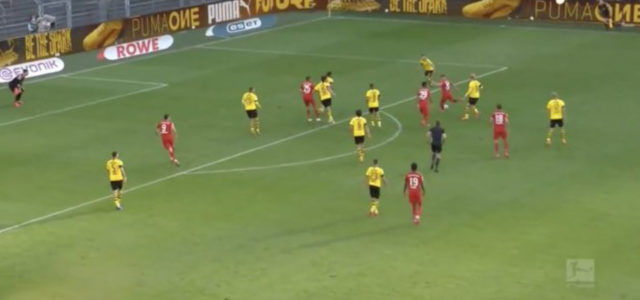 WATCH: Kimmich Chips The Dortmund Keeper From Outside Of The Box. FOOTBALL IS BACK!