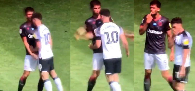WATCH: Lawrence And Miazga Sent Off For Fighting At Full Time
