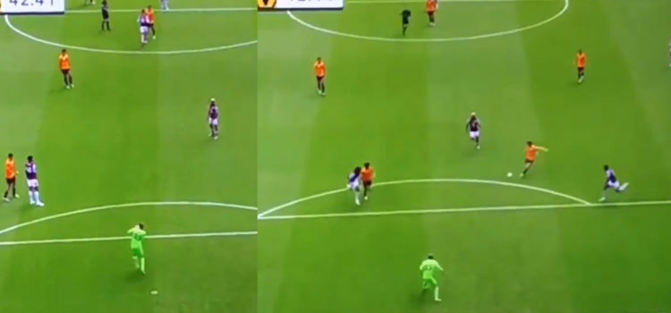 WATCH: Villa Keeper Passes To Jota And Then Jota Missed!
