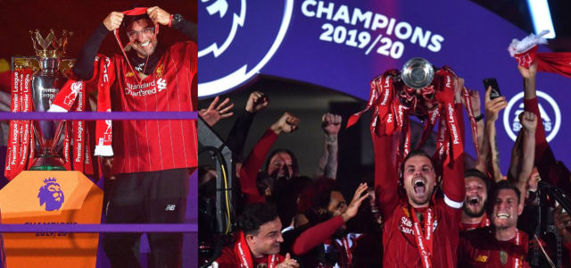 WATCH: Liverpool Finally Lift The Premier League Trophy!