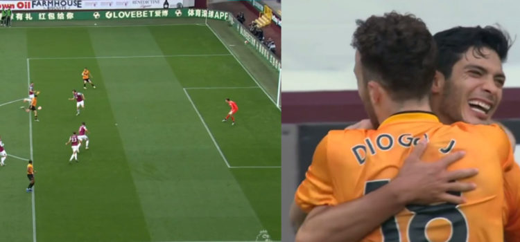 WATCH: Jimenez Scores Stunning Volley For Wolves. This Finish Is So Difficult!