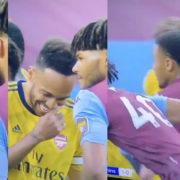 WATCH: Mings Tells Aubameyang A Joke Then Runs To Assist His Teammate For Villa's Goal
