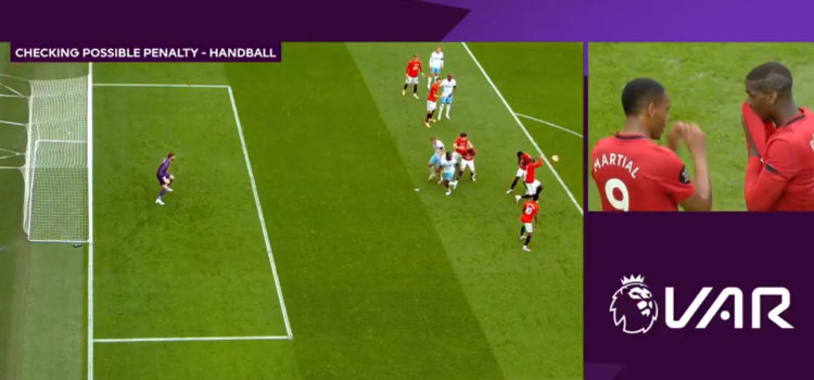 WATCH: Pogba Handballs Then Pretends It Hit Him In The Head So VAR Wouldn't Look At It. This Is Low!