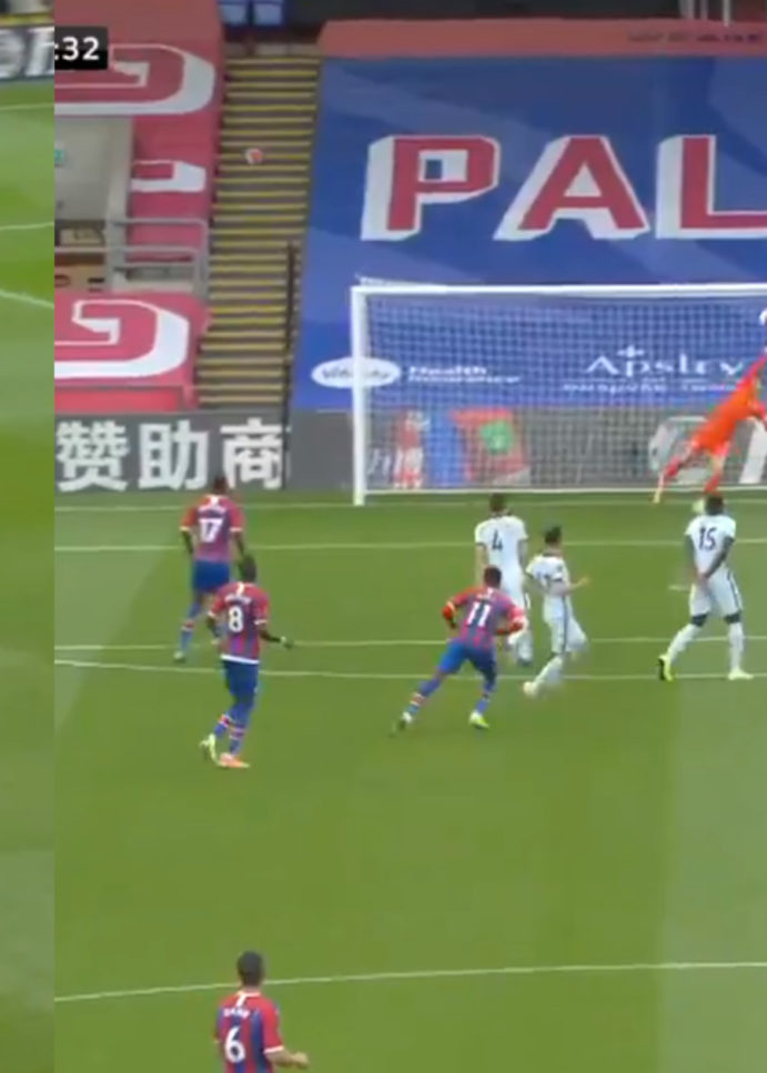 WATCH: Zaha With A Contender For Goal Of The Season