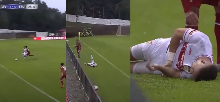 WATCH: Stuttgart Player Needs Surgery After Dirty Shove In The Back From Joe Gomez
