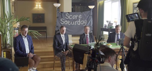 It's a worldie Jeff: Jilted Soccer Saturday trio reunite for a 'sitcom'