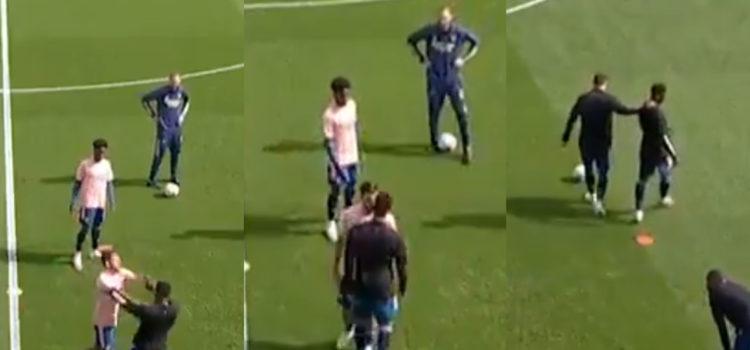 WATCH: Dani Ceballos and Eddie Nketiah Fight During Arsenal Warmup