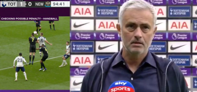 WATCH: Mourinho's Post Match Interview After Car Crash Ending To Newcastle Game