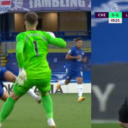 WATCH: Andreas Christensen Gets RED CARD For Rugby Tackle On Sadio Mane!