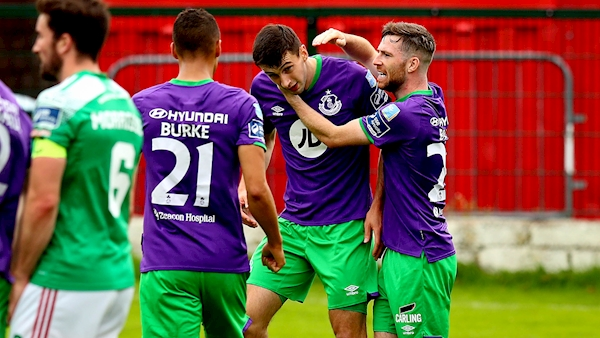 Shamrock Rovers eight points clear at top of table after Cork win