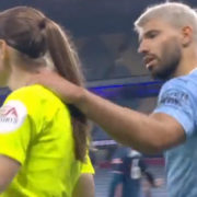 WATCH: Aguero Could Be In Big Trouble After Grabbing Female Official's Neck