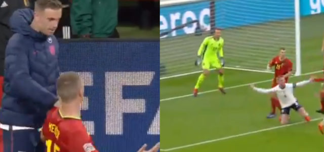WATCH: Thomas Meunier Took The P*ss Out Of Henderson For 'Dive' At FT
