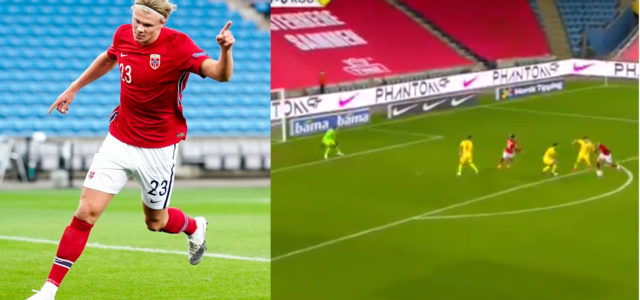 WATCH: Haaland Proves He's The Best Young Talent In The World With Performance For Norway