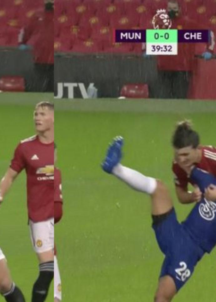 WATCH: Harry Maguire Choke Slams Azpilicueta, No Penalty!