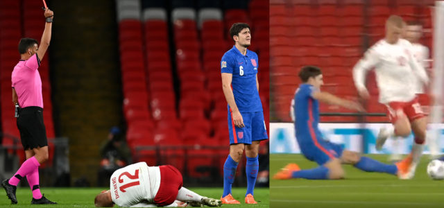 WATCH: Harry Maguire Sent Off In The 31′ For England
