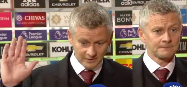 """WATCH: """"I Hold My Hand Up"""" – Ole Gunnar Solskjaer Interview"""