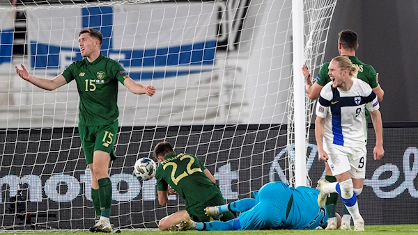 Ireland lose to Finland in another Nations League disappointment