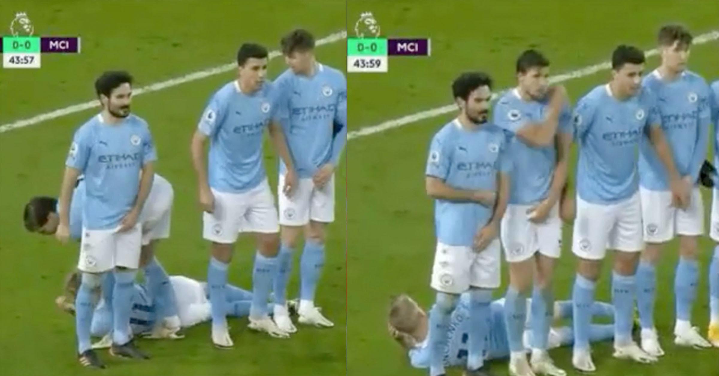 Video: Ruben Dias Moves Zinchenko by his Neck